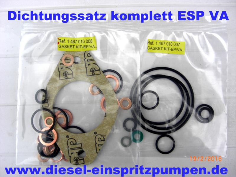 Gasket Kit complete Injection Pump EP/VA